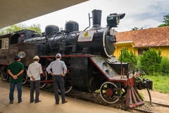Ancient station is famous place, history destination for traveller at Dalat, Vietnam Stock Images
