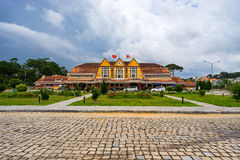 Ancient station is famous place, history destination for traveller at Dalat, Vietnam Royalty Free Stock Photography