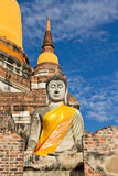 Ancient statue. Located in Ayutthaya province,Thailand Stock Photography