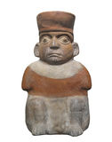 Ancient statue Aztec man isolated Royalty Free Stock Photo