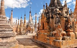 Ancient statue and bas-reliefs, Myanmar Royalty Free Stock Images