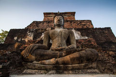 Ancient Statue of Buddha Sukhothai Thailand Stock Photography