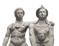 Ancient statue of a couple . Royalty Free Stock Photos