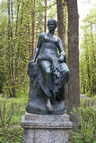 Pavlovsk park. The Old Sylvia (Twelve paths) statues. Euterpe. Saint-Petersburg. Royalty Free Stock Photo
