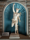 Ancient statue god of commerce Hermes - Mercury.  stock photography