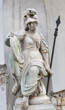 Ancient statue on Holy Trinity Column in Budapest, Hungary Royalty Free Stock Photography