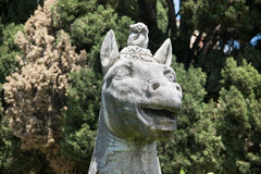Ancient statue of a horse head in baths of Diocletian Thermae Diocletiani in Rome. Italy Stock Photography
