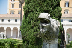 Ancient statue of a horse head in baths of Diocletian Thermae Diocletiani in Rome. Italy Stock Photo