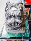 Ancient statue of a lion creatures in the story of China Stock Image