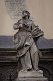 An ancient statue in Lviv, Ukraine. An ancient statue in the center of Lviv, Ukraine Royalty Free Stock Images