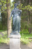 The Ancient Statue оf the Muse Urania. Saint-Petersburg. Stock Photo