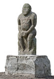Ancient statue of nomad Stock Photo