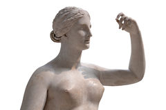 Ancient statue of a nude Venus isolated on white Royalty Free Stock Photos
