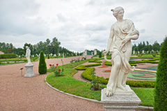 Ancient statue in the Palace garden in Oranienbaum Royalty Free Stock Image