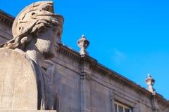 Ancient statue in Roman baths of Bath. Somerset, UK Stock Image