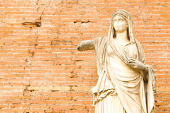Ancient statue in Rome, Italy Royalty Free Stock Photo