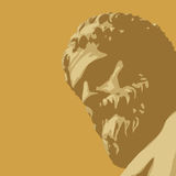 Ancient statue (vector) royalty free illustration