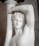Ancient statue of young man Royalty Free Stock Photos