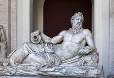 Ancient statue of Zeus in the Vatican museum on May 24, 2011 in Vatican, Rome, Italy. Stock Photos