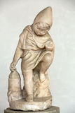 Ancient statueof child in  baths of Diocletian (Thermae Diocletiani) in Rome. Stock Photos