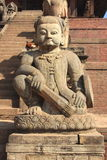 Ancient statues in Bhaktapur. Stock Photo