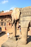 Ancient statues in Bhaktapur. stock photography