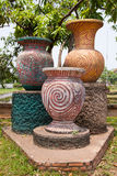 Ancient  statues  jars. Royalty Free Stock Photo