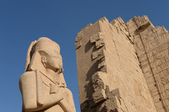 Ancient statues in Karnak Stock Photography