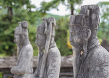 Ancient statues in Khai Dinh tomb in Hue. Vietnam Royalty Free Stock Image