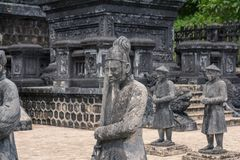 Ancient statues in Khai Dinh tomb in Hue. Vietnam Stock Photo