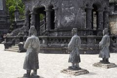 Ancient statues in Khai Dinh tomb in Hue. Vietnam stock photos