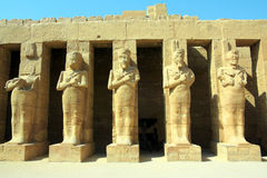 Ancient statues in Luxor karnak temple Stock Images