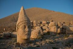 Ancient statues  - Mount Nemrut Stock Image