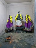 Ancient statues in the Sri Ramana Ashram in Tiruvanamalai India royalty free stock photos