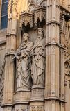 Statues of Two Priests on Church Stock Photography