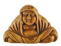 Ancient statuette of Bodhidharma Royalty Free Stock Photography