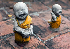 Ancient statuette at the buddhists temple in Ayuttaya, Thailand Royalty Free Stock Images