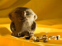 Ancient statuine. Ancient pre-colombian statuine stock photography