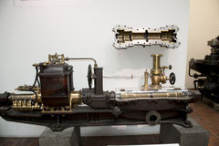 Ancient steam engine German Museum Munich Royalty Free Stock Photography