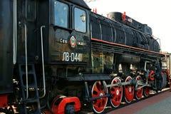 Ancient steam locomotive Stock Image