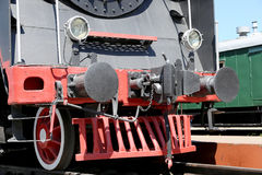 Ancient steam locomotive, Moscow museum of railway in Russia, Rizhsky railway station Stock Photo