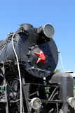 Ancient steam locomotive, Moscow museum of railway in Russia, Rizhsky railway station Royalty Free Stock Images