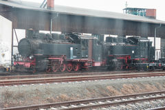 Ancient steam locomotives Stock Photography