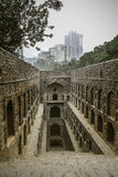 Ancient Step Well in India Stock Image