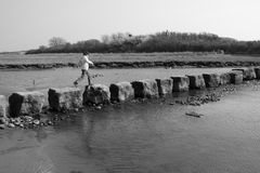 Ancient stepping stones Royalty Free Stock Photography