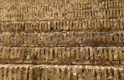 Ancient steps of roman stage of theatre. Or colliseum made of stone Stock Photo