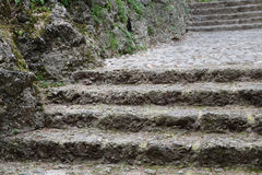 Ancient steps of a stairs Stock Images