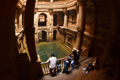 Ancient stepwell Adalaj Ki Vav Royalty Free Stock Photo