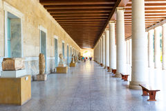 Ancient Stoa of Attalos in Athens Greece Stock Photography