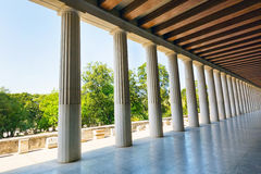 Ancient Stoa of Attalos in Athens Greece Stock Photo